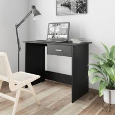 Biurko, czarne, 100x50x76 cm, płyta wiórowa