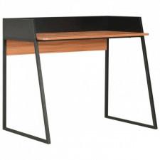 Biurko, czarno-brązowe, 90 x 60 x 88 cm