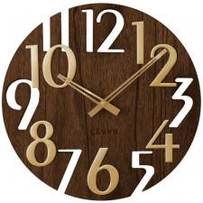 Brązowy drewniany zegar lavvu style brown wood