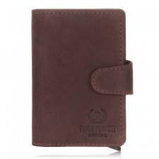 Brązowy modny portfel z etui in-69 paolo peruzzi