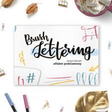 Brush lettering - zeszyt ćwiczeń: alfabet podstawowy