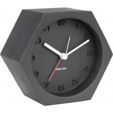 Budzik hexagon czarny