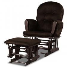 Bujany fotel z podnóżkiem i miękkim obiciem