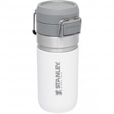 Butelka termiczna 100% szczelna, biała 0,47 litra quick flip go stanley (10-09148-024)