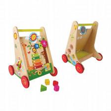 Chodzik pchacz dla dzieci dziecko drewniany