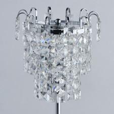 Chromowana lampka na stolik nocny, kryształki adelard mw-light crystal (642033201)
