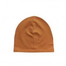 czapka dresowa musztardowa 36-40 wiek 3-6 m-cy