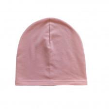 czapka dresowa pudrowy róż 52-56 wiek 7-9 lat