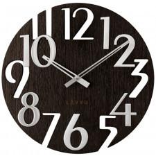 Czarny drewniany zegar lavvu style black wood