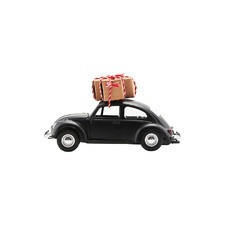 Dekoracja car xmas black mini house doctor