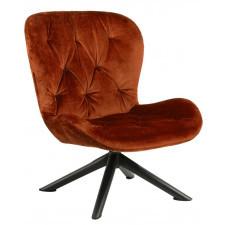 Designerski fotel wypoczynkowy na krzyżaku batilda star