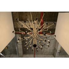 Designerski żyrandol ze stali węglowej i niklu gino 100