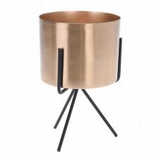Donica doniczka ze stojakiem złota osłonka 16cm