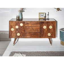 Drewniana komoda mystic living akacja / szer. 145 cm