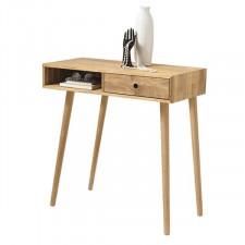 Drewniana konsola huglo, dąb sękaty olejowany