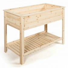 Drewniana skrzynia donica podwyższona na warzywa i zioła