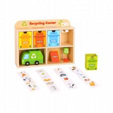 Drewniane centrum recyklingu dla dzieci