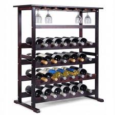 Drewniany regał na wino na 24 butelki