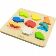 Drewniany sorter kształty zwierzątka dla dzieci