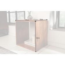 Drewniany stolik makassar z drewna mango /43x43 cm