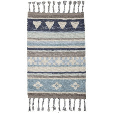 Dywan bloomingville 60 x 90 cm niebieski bawełniany