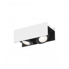 Eglo 39316 vidago 2x5,4w led plafon biały/czarny