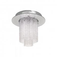 Eglo 39396 vilalones 10x4,3w led plafon sufitowy chrom kryształ