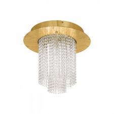 eglo 39398 vilalones 10x4,3w led plafon sufitowy złoty kryształ