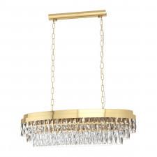 Eglo 39462 valparaiso 10x40w lampa wisząca złoty/kryształ