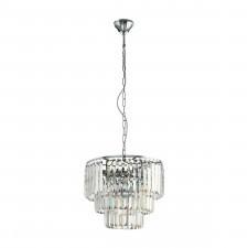 Eglo 39483 agrigento 5x40w lampa wisząca chrom/kryształ