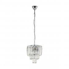 Eglo 39484 agrigento 4x40w lampa wisząca chrom/kryształ