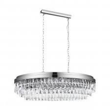 Eglo 39494 valparaiso 1 10x40w lampa wisząca chrom/kryształ