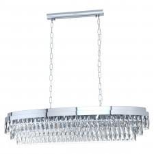 Eglo 39495 valparaiso 1 13x40w lampa wisząca chrom/kryształ