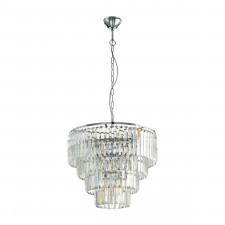 Eglo 39514 agrigento 7x40w lampa wisząca chrom/kryształ