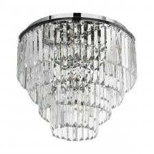 Eglo 39569 agrigento 7x40w plafon chrom/kryształ
