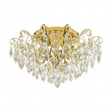 Eglo 39602 fenoullet 1 6x25w plafon mosiądz/kryształ