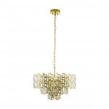 Eglo 39613 calmeilles 10x25w lampa wisząca mosiądz/kryształ