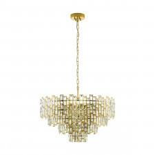 Eglo 39614 calmeilles 10x25w lampa wisząca mosiądz/kryształ