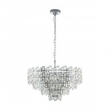 Eglo 39627 calmeilles 1 10x25w lampa wisząca chrom/kryształ