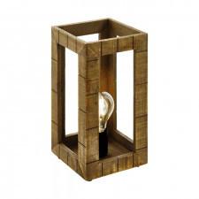 Eglo 43016 takhira 1x60w lampka nocna drewno czarny brązowy