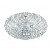Eglo clemente 95285 lampa sufitowa 3x60w glamour błyszcząca z kryształami