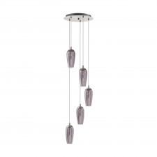 Eglo farsala 96345 lampa wisząca oprawa zwis glamour 5x3w led przydymiony przezroczysty