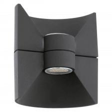 Eglo redondo 93368 kinkiet industrialny lampa zewnętrzna 2x2.5w led antracyt