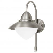 Eglo sidney 87105 lampa zewnętrzna kinkiet dekoracyjny z czujnikiem ruchu 1x60w stal biały