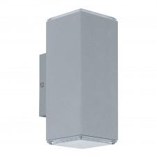 Eglo tabo 94186 kinkiet zewnętrzny industrialny oprawa aluminiowa 2x3.7w led srebrny