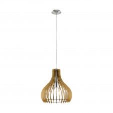 Eglo tindori 96258 lampa wisząca oprawa drewniana 1x60w klonowa nikiel mat