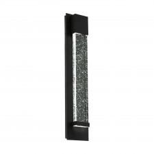 Eglo villagrazia 98154 kinkiet zewnętrzny dekoracyjny lampa ścienna 2x3.3w led czarny glamour