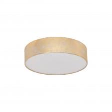 Eglo viserbella 97641 lampa sufitowa z abażurem plafon okrągły 1x60w szampańska złota
