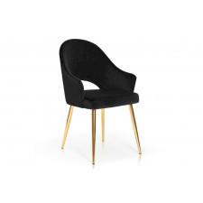 Ekskluzywne tapicerowane krzesło natale na złotych nogach