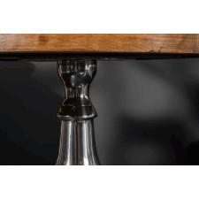 Elegancki okrągły stolik kawowy extravagancia blat mango / śr. 51 cm